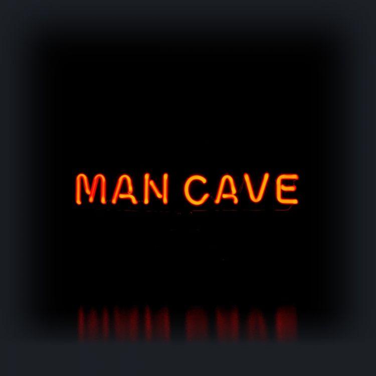 Neon Sculpture - Man Cave in text