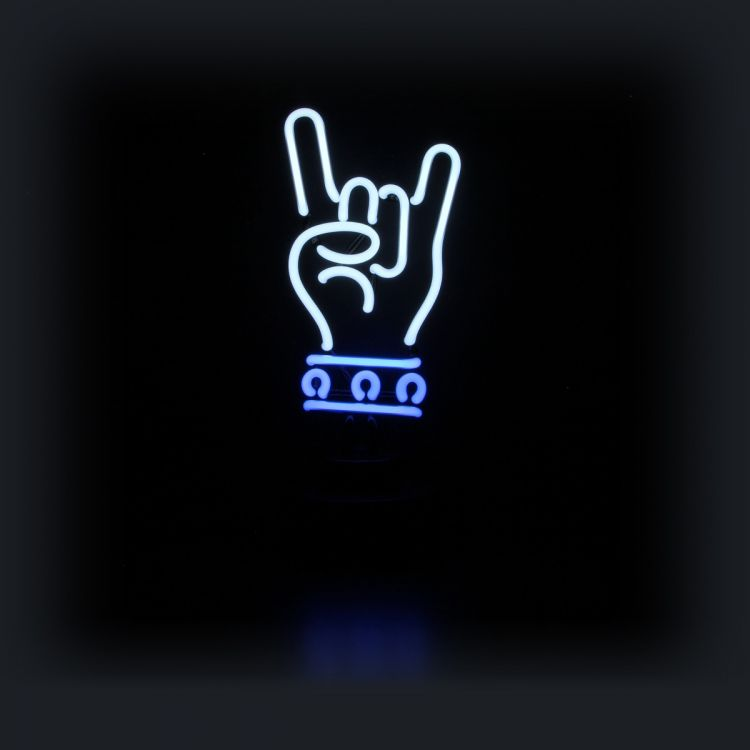 Neon Sculpture - Rock Hand